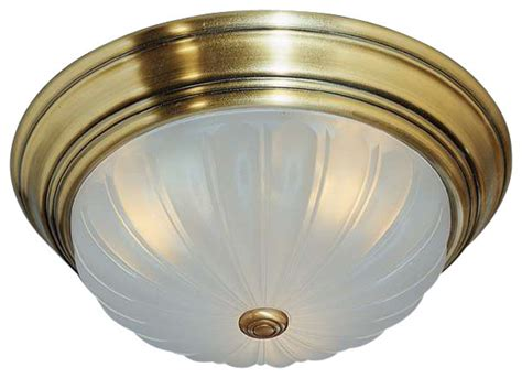 quoizel lighting ml183a melon traditional flush mount