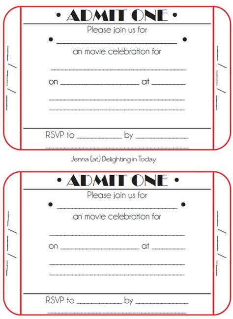 ticket invitations template best 25 invitations ideas on