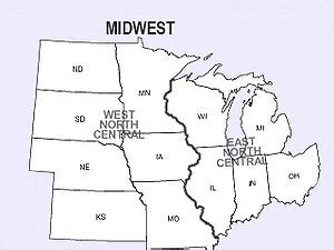 blank map of us midwest region midwestern united states the wiki