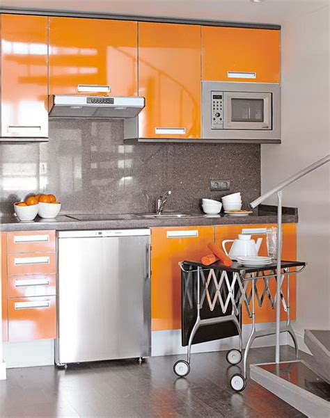 orange and yellow kitchen the effective combination of gray with yellow and orange