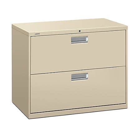 hon 600 series lateral file cabinet hon brigade 600 series lateral file 2 drawers 36 w putty