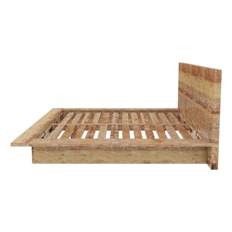 rustic bed frame britain rustic teak wood platform bed frame