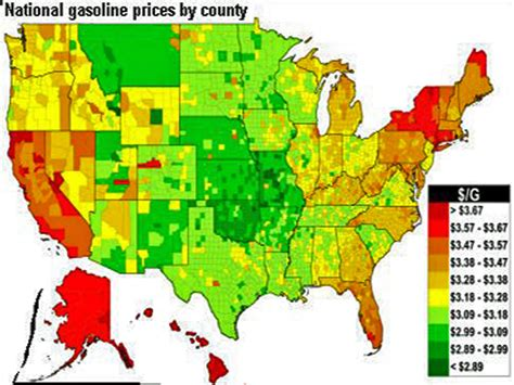 map of us gas prices thanksgiving 2013 gas prices business insider