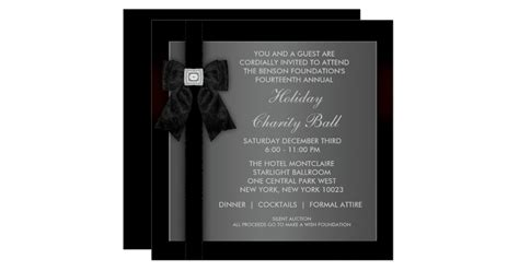 Corporate Black Tie Event Formal Template Card Zazzle Black Tie Event Program Template