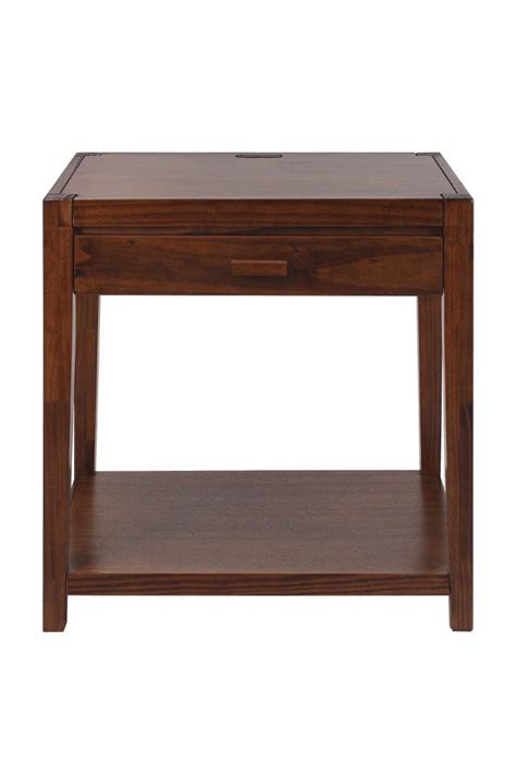 nightstand l with usb port night owl nightstand with usb ports casual home