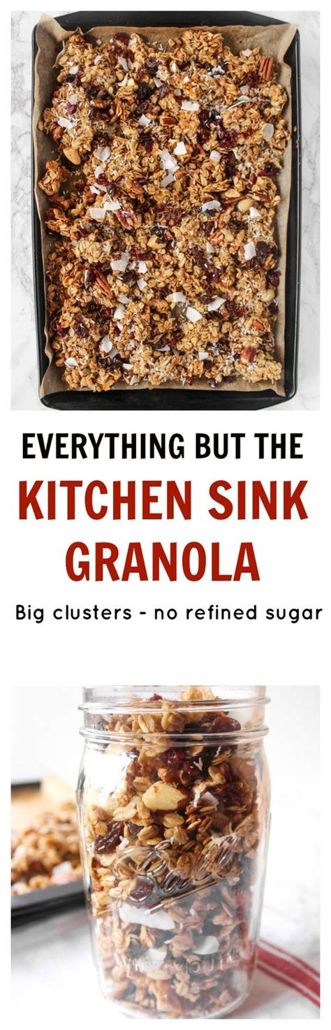 Kitchen Sink Recipes Kitchen Sink Granola Recipe Dried Fruit Of And Coconut