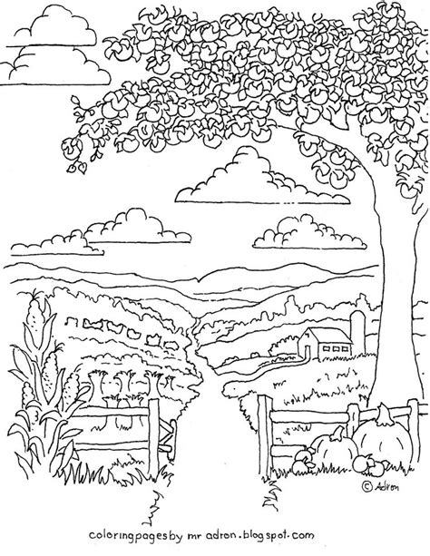 apple harvest coloring pages coloring pages for kids by mr adron printable autumn