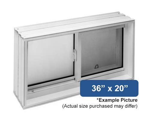 36 quot x 20 quot vinyl slider basement window buy online