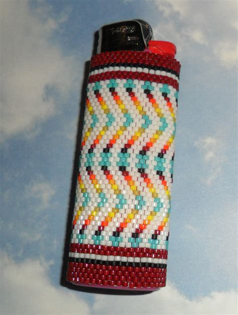 how to make beaded lighter covers laramie beaded lighter cover by soaringhawktraders on etsy