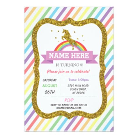 rainbows and sparkles birthday party ideas birthdays rainbow invitations announcements zazzle