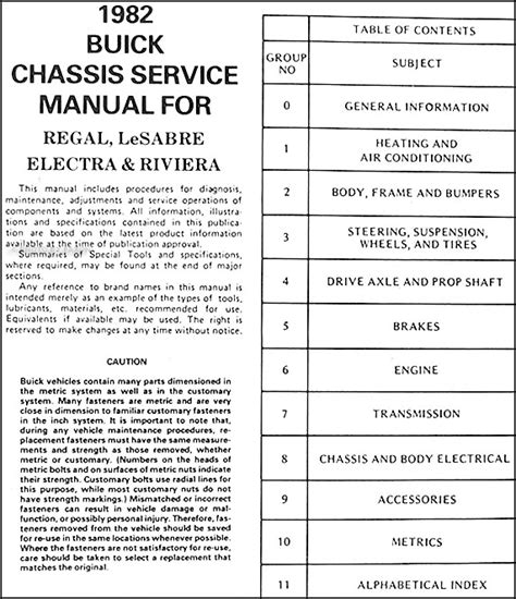 free online auto service manuals 1991 buick regal electronic toll collection 1982 buick shop manual lesabre riviera regal electra original repair service