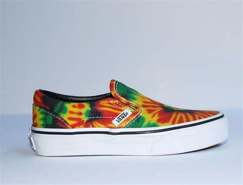 nib vans classics tie dye rasta colorful shoe slip on