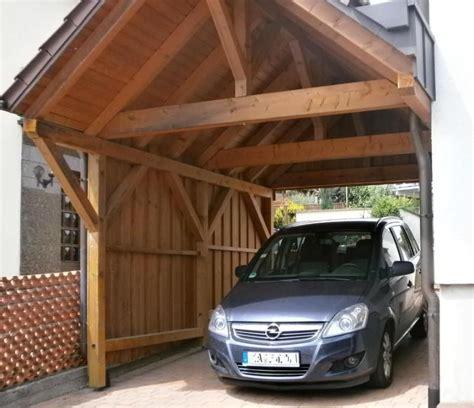 Autounterstand Holz Carport Aus Holz Selber Bauen Hk26 Hitoiro
