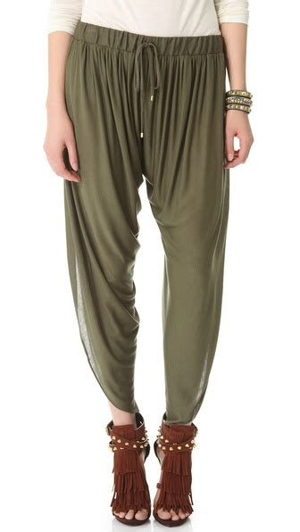 Haute Hippie Draped Jersey Harem Pants Shopbop