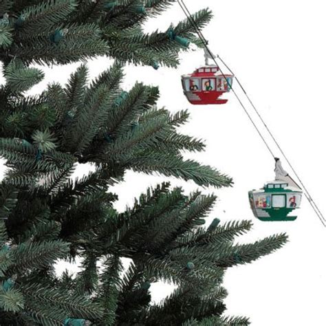 animated ski lift decoration mr animated tree cable cars the green