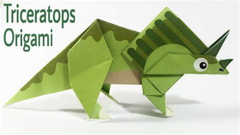 How To Make An Origami Triceratops - triceratops tutorial easy dinosaur origami