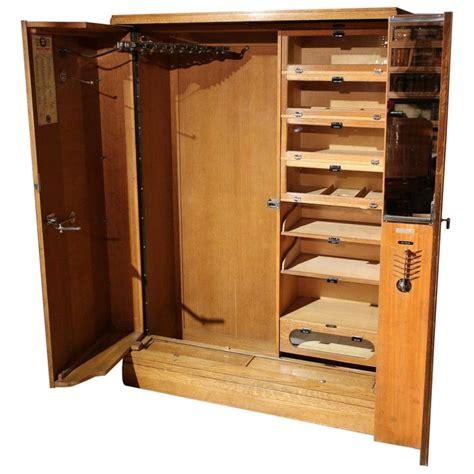 art deco oak compactom wardrobe  stdibs