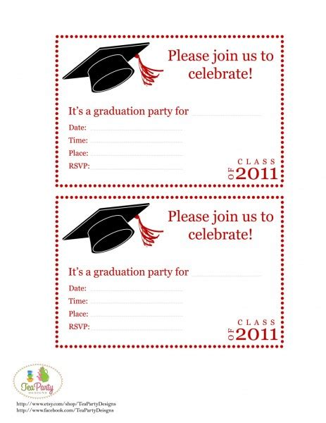 top 14 free printable graduation invitation templates for