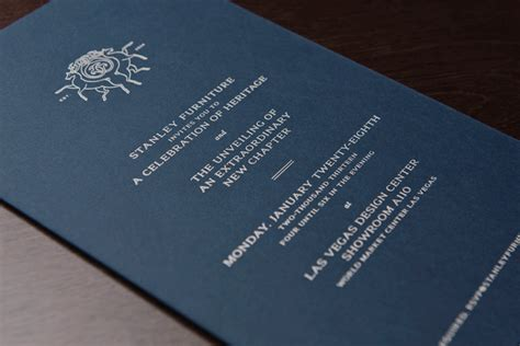 Luxury Home Interior Designers Fpo Stanley Furniture Rebrand Launch Party Invitations