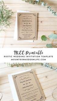 Free Wedding Invites Templates by Free Printable Wedding Invitation Template