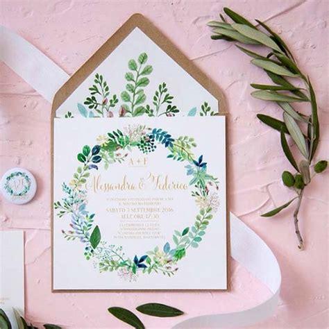 fiori verdi matrimonio 5 partecipazioni floreali moderne e originali favolose