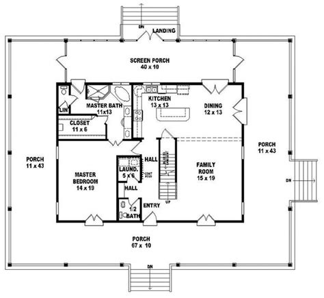 house plan com 654064 one and a half 3 bedroom 2 5 bath florida