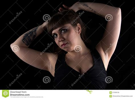 curvy tattooed women photo of curvy with on stock photo