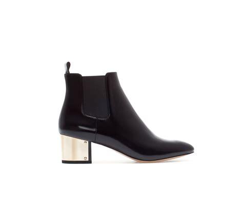 metal boots zara metal heel ankle boot in black lyst