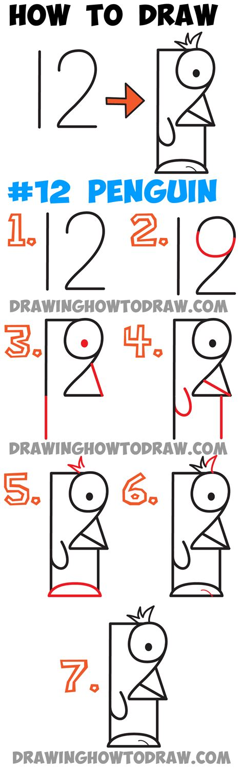 the artist s workbook easy to follow lessons for creating your own characters how to draw penguin from 12 easy step by