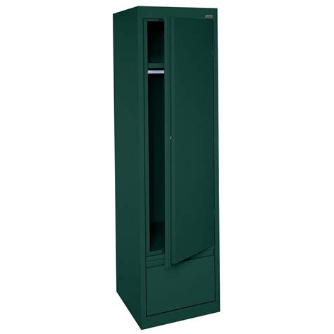Single Door Wardrobe With Drawers by Sandusky System Series 17 In W X 64 In H X 18 In D