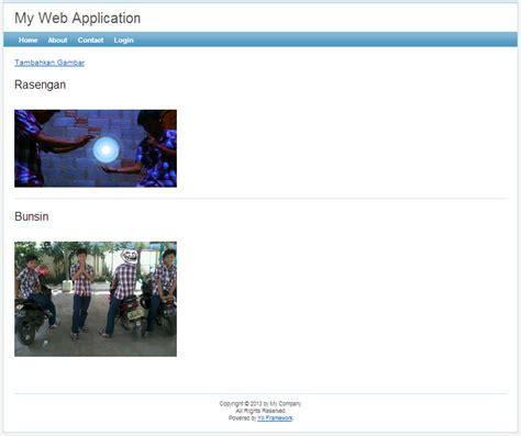 yii chtml tutorial cara upload gambar di yii framework jin toples programming