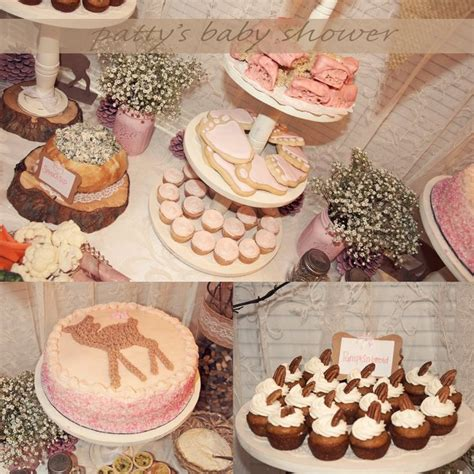 Country Themed Baby Shower by Rustic Baby Shower Deer Theme Country Pink Deer