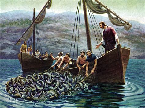 fishing boat in jesus time seeing the fish