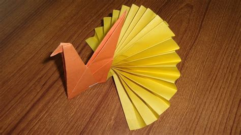 Easy Origami Peacock - paper peacock easy origami paper crafts for