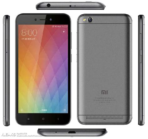 redmi 5a xiaomi redmi 5a leaked will come pre installed with miui 9