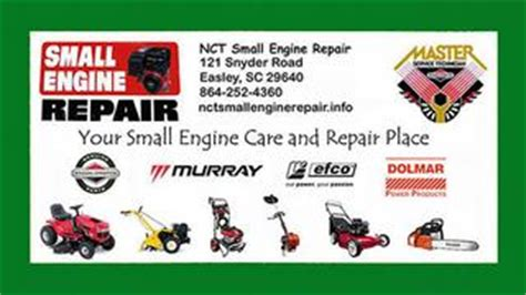 Small Engine Repair Business Card Templates by Nct Small Engine Repair Llc Easley Sc 29640 864 252 4360