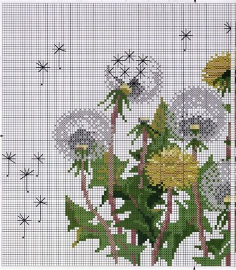 pattern maker cross stitch v4 free download cross stitch pattern dandelions diy 100 ideas