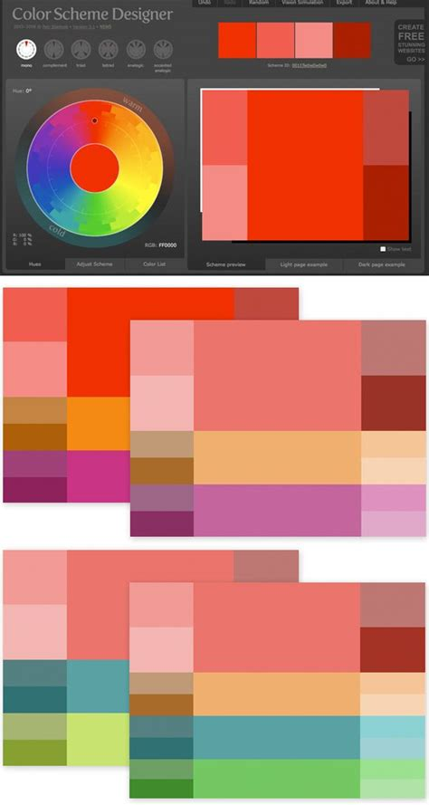 1000 ideas about color scheme generator on