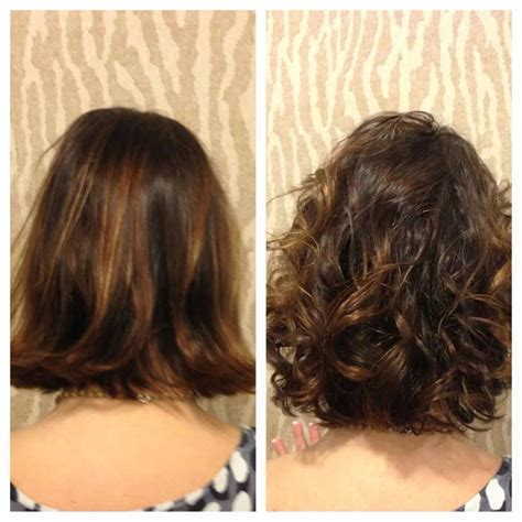 body wave perm hairstyle before and after on short hair american wave before and after by heidi of salon sabeha