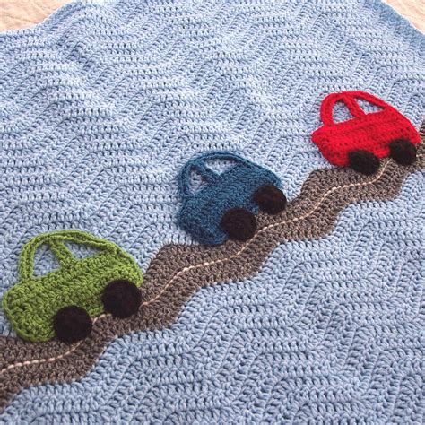 blanket for car crochet cars ripple blanket a baby boy by prairieheartstrings