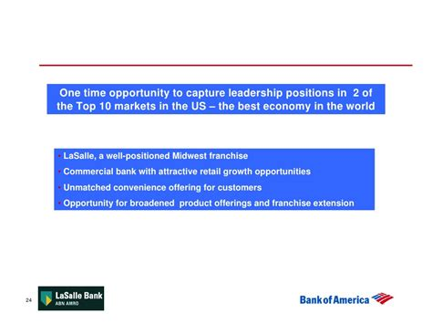 bank of america acquires lasalle bank conference call