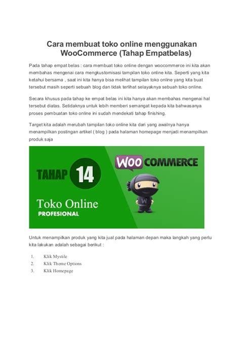 membuat toko online menarik cara membuat toko online menggunakan woo commerce