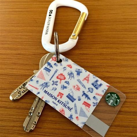 Starbucks Card Japan Mini maison kitsune x starbucks card for gq japan
