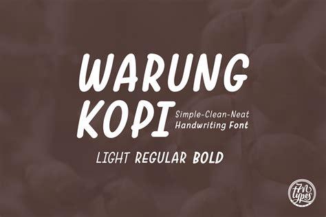 Product Warung warung kopi font by situjuh creative fabrica