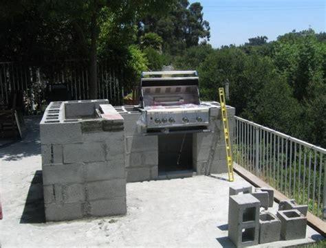 diy outdoor kitchen cinder block home design ideas