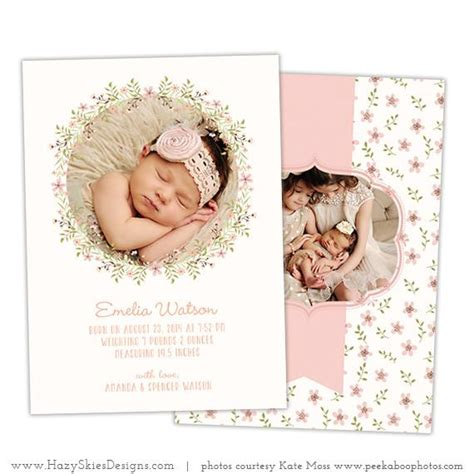 birth announcements templates for photographers birth announcement template simply adorable