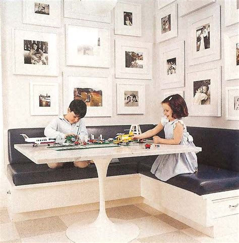 corner kitchen banquette built in seating and photo display makes for divine dining divine dinning
