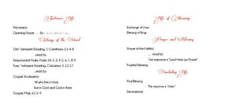 Non Mass Catholic Wedding Program Template Needed Weddingbee Catholic Wedding Program Template Without Mass