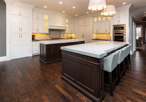 double kitchen island double island kitchen ovation cabinetry