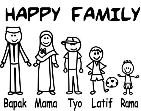 Stiker Mobil Happy Family Papa Cook fenomena sticker happy family